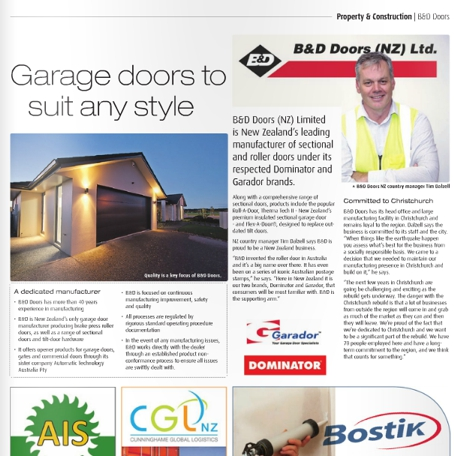 B&D Doors Featured in Canterbury Today