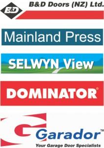B&D Doors, Dominator, Garador, Mainland Press, Selwyn View