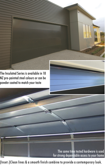 The New Insulated Series of Garage Doors is available through Garador & Dominator Dealers Nationwide